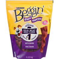 Strips with Bacon Dog Snacks 1.13 kg