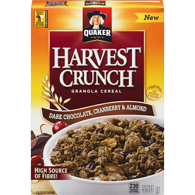 Harvest Crunch Granola Cereal, Dark Chocolate Cranberry