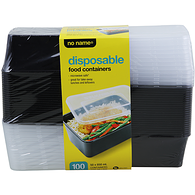 Disposable Containers, 100 Pack
