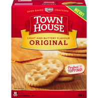 Town House Oven Baked Crackers Light and Buttery Flavour Original
