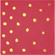 Breakfast Napkins, Red Foil Stamp
