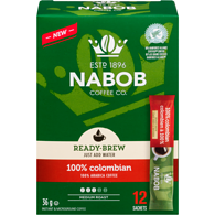 Ready-Brew Coffee, 100% Colombian, 12 Sticks