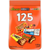 Reese, Oh Henry, Hershey Assorted Halloween Chocolate, 125 Count