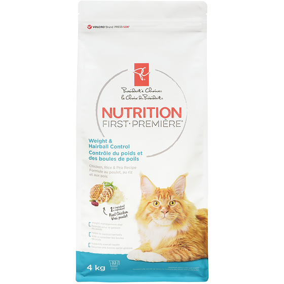 PC Nutrition First, Weight & Hairball Control, Chicken, Rice & Pea Recipe