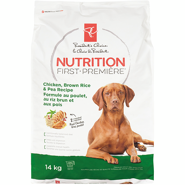 PC Nutrition First Chicken, Brown Rice & Pea Recipe - Adult Dog Food