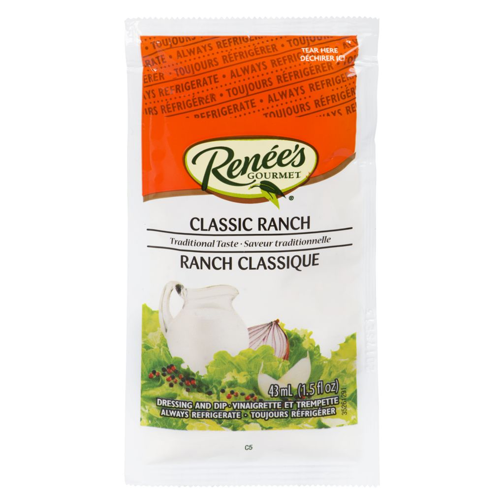 Classic ranch dressing pouch