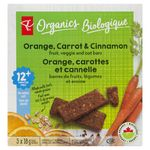 Oat Bars, Orange Carrot Cinnamon Fruit