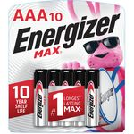 Max + Powerseal 10 Alkaline Batteries AAA